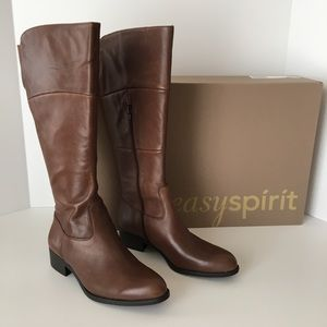 Easy Spirit Brown Leather Knee High Boots Size 5.5